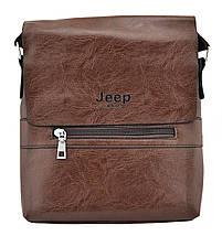 Мужская сумка через плечо JEEP 866 BAGS | Коричневая, фото 3