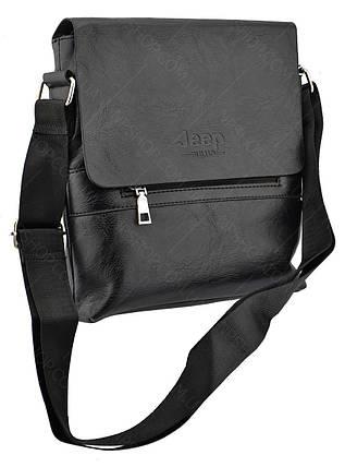 Мужская сумка через плечо JEEP 866 BAGS   Черная, фото 2