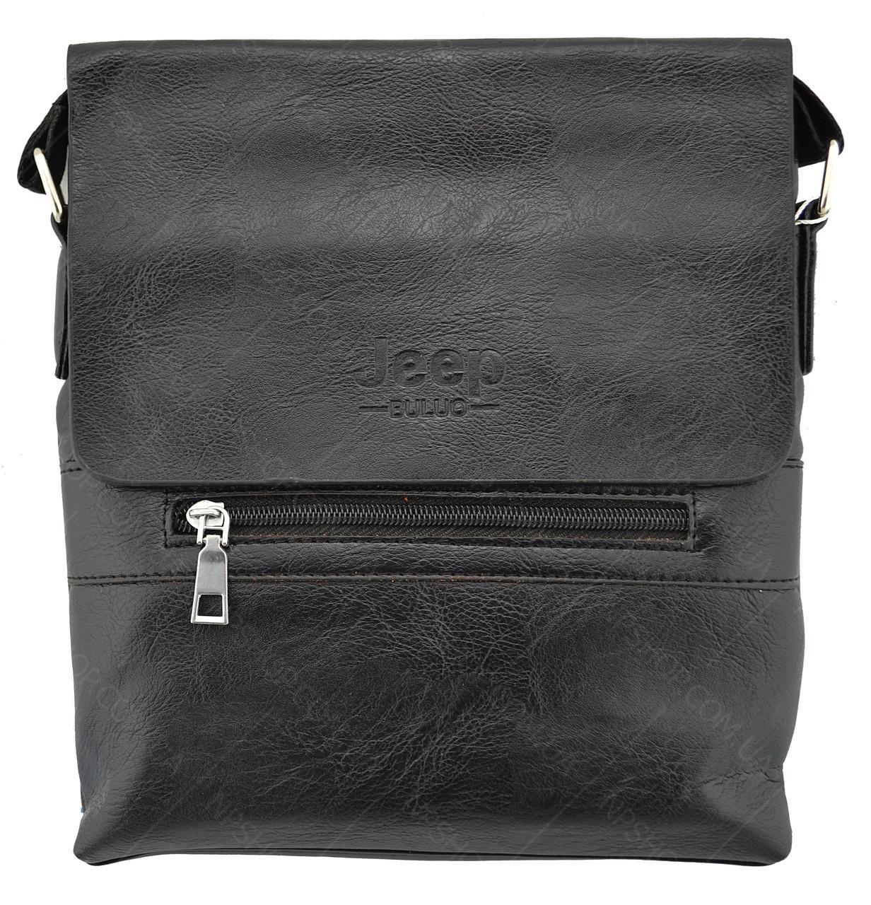 Мужская сумка через плечо JEEP 866 BAGS   Черная