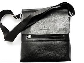Мужская сумка через плечо JEEP 866 BAGS   Черная, фото 3