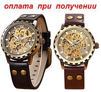 Мужские механические часы скелетон SHEN Winner Skeleton купить NEW!