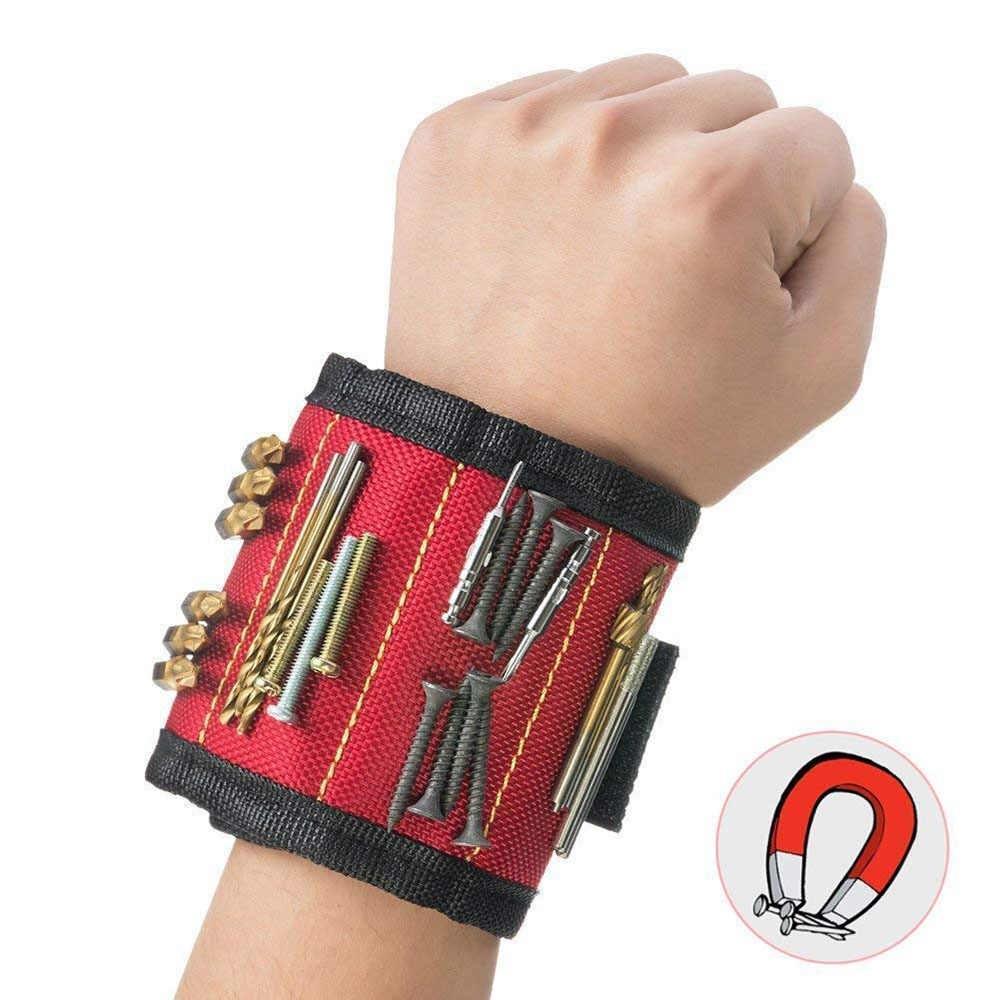 Магнитный браслет со встроенными суперсильными магнитами для крепления винтов, гвоздей, болтов