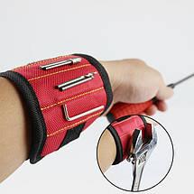 Магнитный браслет со встроенными суперсильными магнитами для крепления винтов, гвоздей, болтов, фото 3