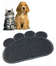 Килимок для собак і кішок Paw Print Litter Mat | Килимок для вихованців, фото 2