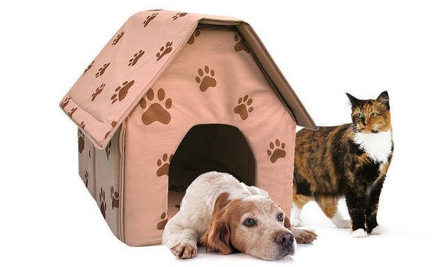 Переносний будиночок для собак Portable Dog House | М'яка будка для собак, фото 2