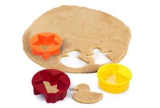 Скалка для теста Roll and Store Pin + формочки для печенья 9 шт, фото 3