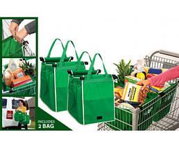 Складная хозяйственная сумка для покупок Grab Bag 2 шт, фото 2