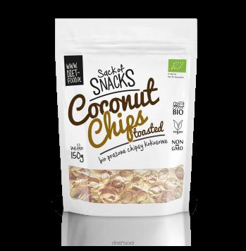 Органические кокосовые чипсы - поджаренные 150g Diet Food Coconut chips - toasted