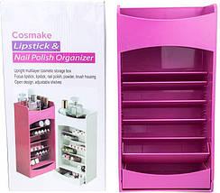 Органайзер для хранения косметики COSMAKE LIPSTICK & NAIL POLISH ORGANIZER | Розовый, фото 3