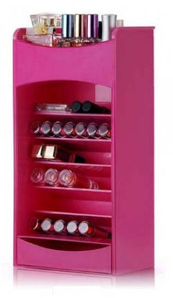 Органайзер для хранения косметики COSMAKE LIPSTICK & NAIL POLISH ORGANIZER | Розовый, фото 2