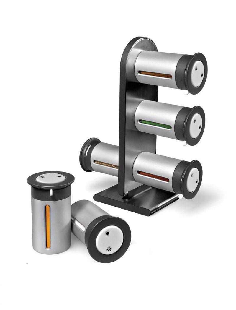 Набор баночек для специй и приправ Zevgo Magnetic Spice Stand из 6 сосудов