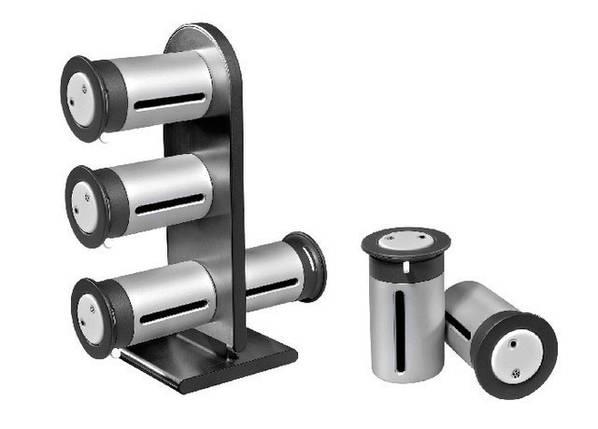 Набор баночек для специй и приправ Zevgo Magnetic Spice Stand из 6 сосудов, фото 2