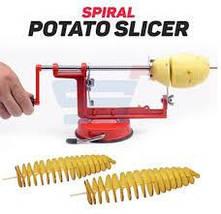 Машинка для спиральной нарезки картофеля Spiral Potato Slicer   Аппарат для нарезки картофеля, фото 2