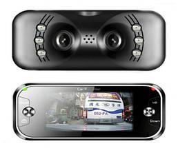 Панорамный автомобильный видеорегистратор с двумя камерами DVR F9 FullHD   Регистратор в машину, фото 3