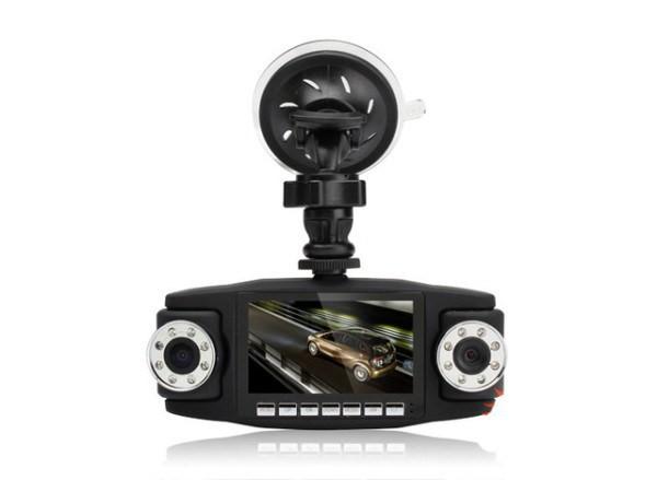 Автомобильный видеорегистратор Double 3 в 1 2 камеры + GPS | Регистратор в машину