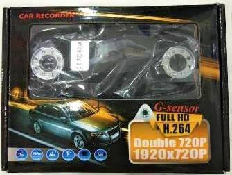 Автомобильный видеорегистратор Double 3 в 1 2 камеры + GPS | Регистратор в машину, фото 2
