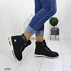 Женские зимние ботинки черного цвета, эко кожа, фото 2