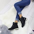Женские зимние ботинки черного цвета, эко кожа, фото 3