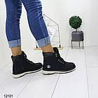 Женские зимние ботинки черного цвета, эко кожа, фото 4