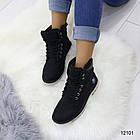 Женские зимние ботинки черного цвета, эко кожа, фото 5