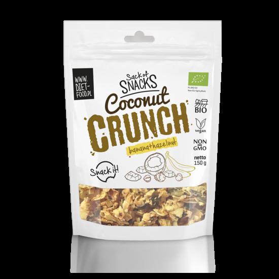 Органический кокосовый хруст (кранч) - бана+фундук 150г Diet Food coconut crunch with banana and hazelnut