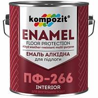 Кompozit эмаль для пола ПФ-266 красно-корич. 2,8 кг