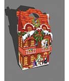 Сумочка новогодняя, Новогодний дворец, Картонная упаковка для конфет, 1500 грамм, фото 2