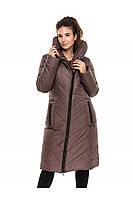 ✔️ Зимнее пальто пуховик молодежное 44-54 размера мокко