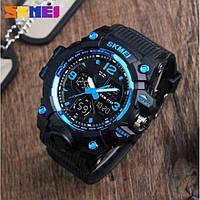 Skmei 1155 B Hamlet Синие  мужские спортивные часы