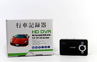 Автомобильный видеорегистратор DVR K6000 B без кабеля HDMI | Регистратор в машину, фото 3