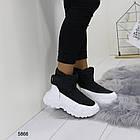 Женские зимние ботинки черного цвета, эко кожа/плащевка  40 ПОСЛЕДНИЕ РАЗМЕРЫ, фото 4