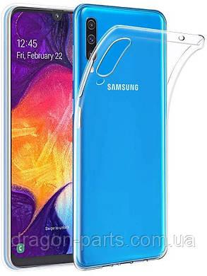 Прозрачный силикон чехол бампер Samsung Galaxy A50, фото 2