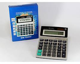 Калькулятор большой настольный KK 1200 для домашнего / профессионального использования, фото 3