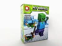 Конструктор Duo Le Pin Toys Герой #4 Minecraft