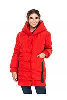 ✔️ Зимняя молодежная куртка объемная 44-54 размера красная