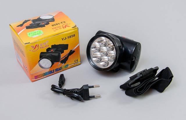 Акумуляторний ліхтар налобний YAJIA YJ-1858 7LED, фото 2