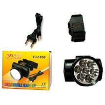 Акумуляторний ліхтар налобний YAJIA YJ-1858 7LED, фото 3