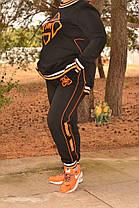 Стильный тёплый женский спортивный костюм из трёх нитки с начёсом  батал с 48 по 82 размер, фото 2