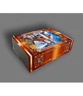 Новогодняя подарочная коробка, Книга, Картонная упаковка для конфет,  Днепр