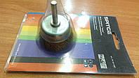 """Щетка-крацовка """"Чашка"""", со шпилькой, латунная для дрели Ø50х6мм.(18-082)"""