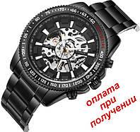 Мужские механические часы скелетон Winner Skeleton с автоподзаводом ОРИГИНАЛ