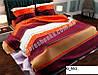 Комплект семейного постельного белья Gold бордово-оранжевое