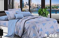Комплект постельного белья Евро стандарта Ranforce треугольнички