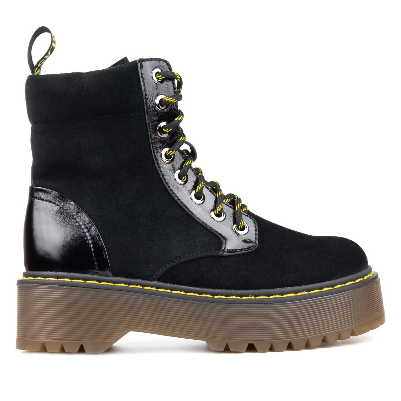 Ботинки женские черные (О-873)