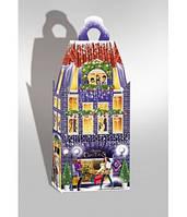 Новогодняя подарочная коробка, Башня с часами, Картонная упаковка для конфет опт, Днепр