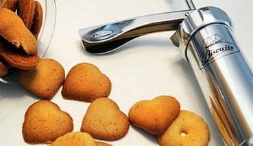 Кондитерский шприц пресс для печенья с насадками Biscuits А70, фото 2