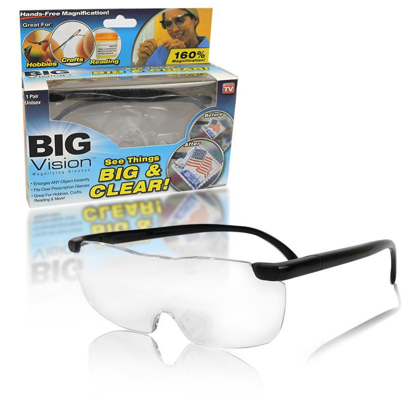 Увеличительные очки - лупа Big Vison BIG & CLEAR | Очки для коррекции зрения
