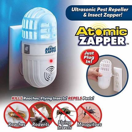Ультразвуковой отпугиватель от комаров Atomic ZABBER | Антимоскитная лампа, фото 2