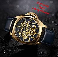 Мужские чоловічі механические часы скелетон Oulm- Winner Skeleton с автоподзаводом ОРИГИНАЛ
