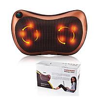 Роликовый массажер подушка для спины и шеи Massage pillow GHM 8028